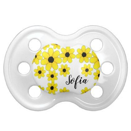 Add baby name to yellow flower pacifier flower gifts floral add baby name to yellow flower pacifier flower gifts floral flowers diy negle Gallery