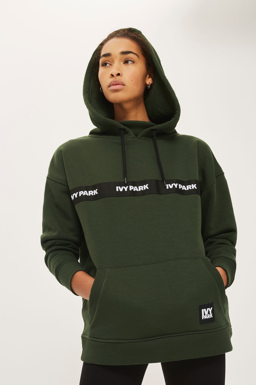 elastic logo hoodie by ivy park new in fashion new in. Black Bedroom Furniture Sets. Home Design Ideas