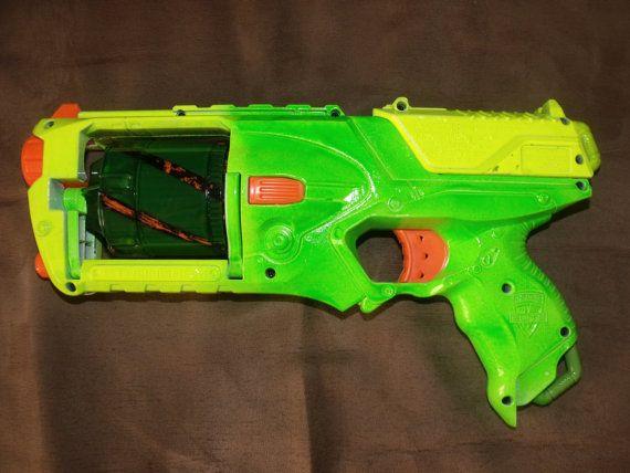 Fluorescent Nerf Elite Strongarm Blaster Gun in BLACK LIGHT Responsive  Green, Yellow, Orange