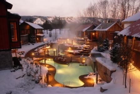 Winter Overview By Scandinave Spa Blue Mountain Via Flickr Weekend Escape Spa Getaways Ontario Travel