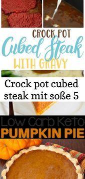 Photo of Crock pot cubed steak mit soße 5-Crock pot cubed steak mit s…
