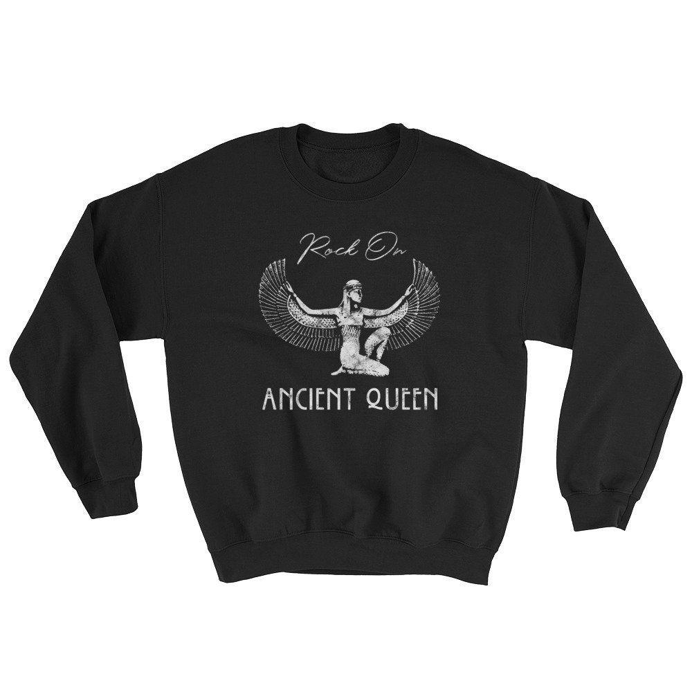 Rock On Ancient Queen Sweatshirt Unisex Gold Dust Woman Etsy Sweatshirts Unisex Sweatshirt Ancient Queen