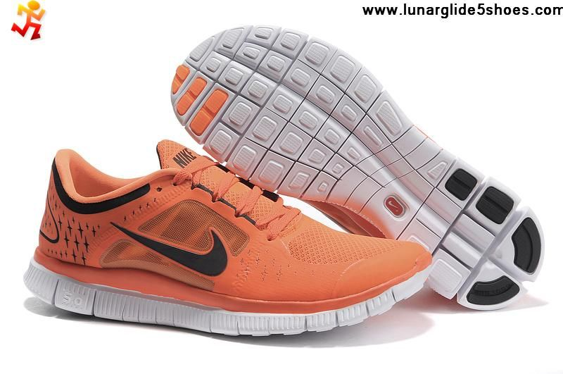 the latest 91d64 0ba4a Buy 2013 New Womens Nike Free Run 3 Orange Black Shoes Shoes Shop