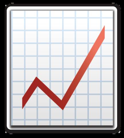 Chart With Upwards Trend Sticker Patches Chart Emoji Stickers