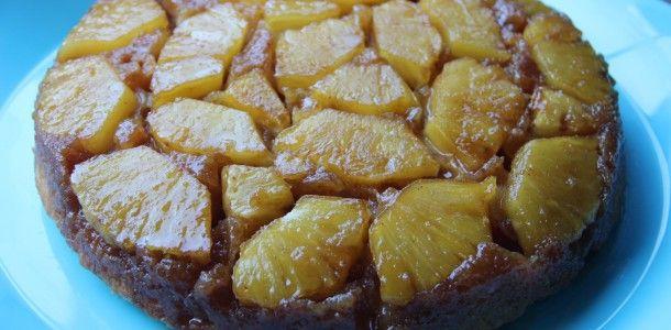 おいしいパイナップルアップサイドダウンケーキ