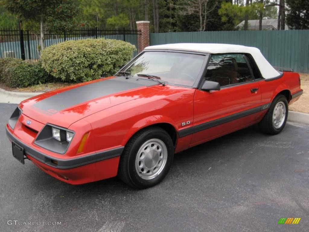 1986 bright red ford mustang gt convertible 41865718 gtcarlot