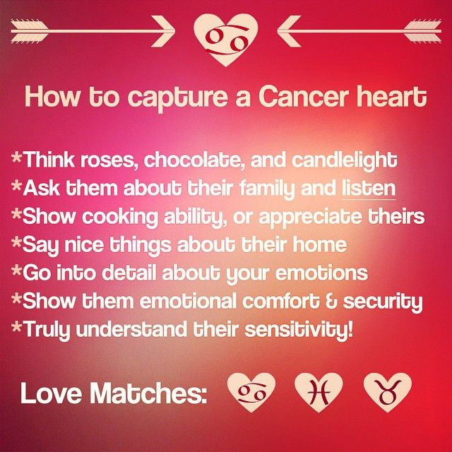 Love match for cancer woman