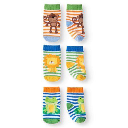 Boy Girl Socks Anti Slip Animal Cartoon Shoes Slippers 3-12 months Baby