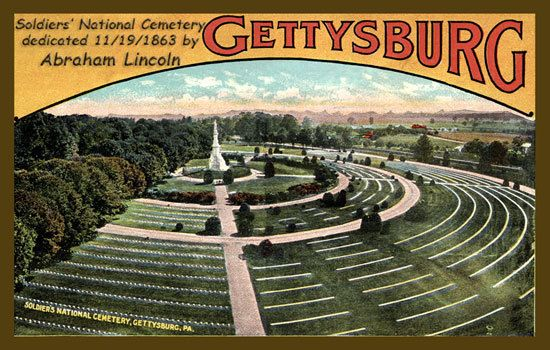 Olde America Antiques | Quilt Blocks | National Parks | Bozeman Montana : Gettysburg NMP - Soldiers National Cemetery 2