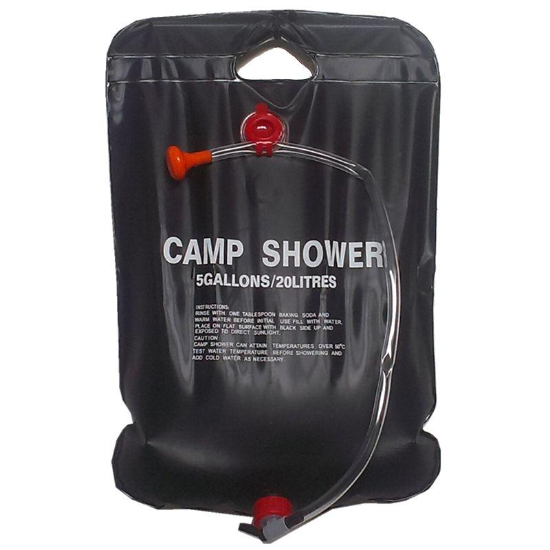 Solar Shower Camp Shower Bag 20 liters black Solardusche