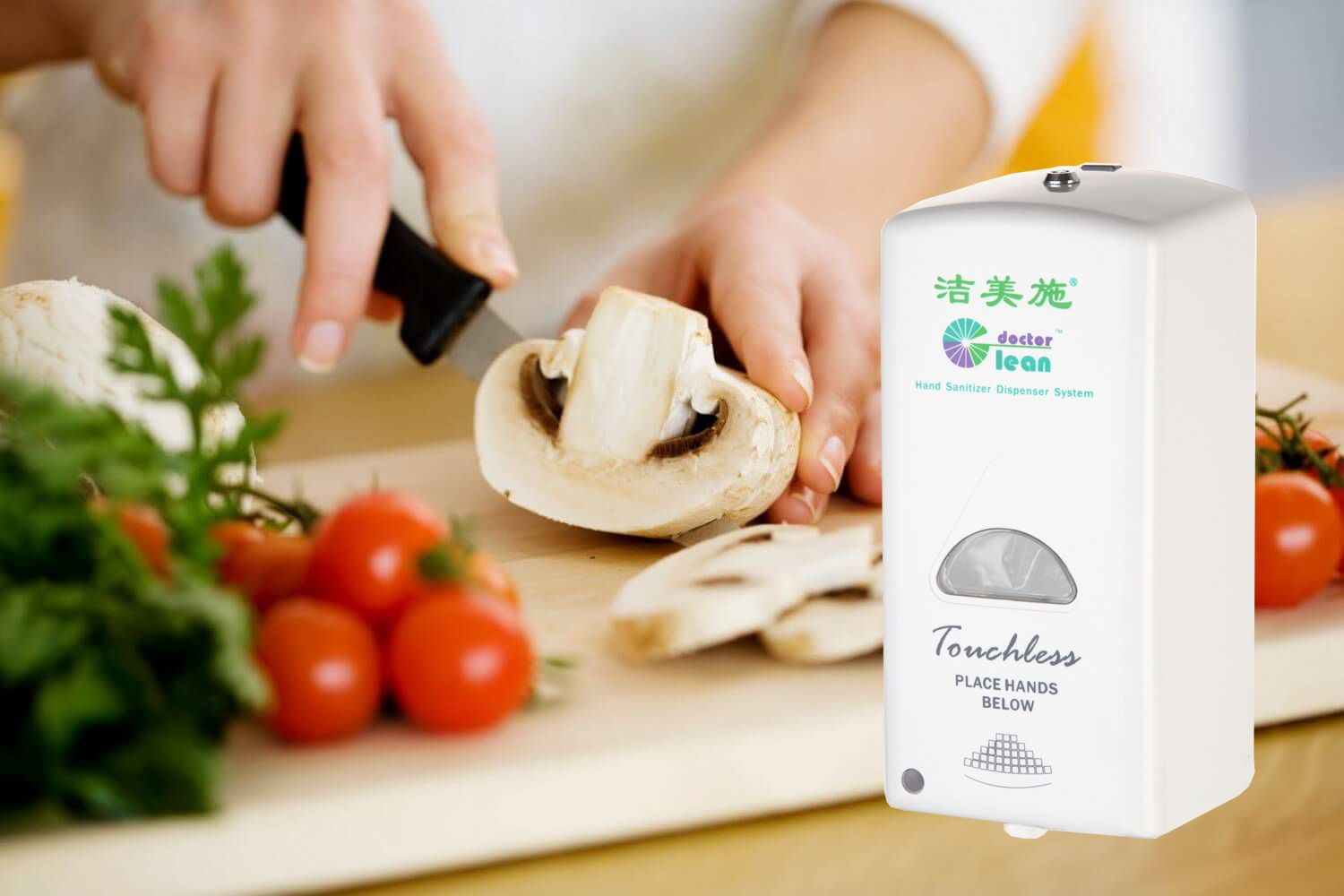 Food Safety Food Hygiene Touch Free Sanitizer Dispeser With