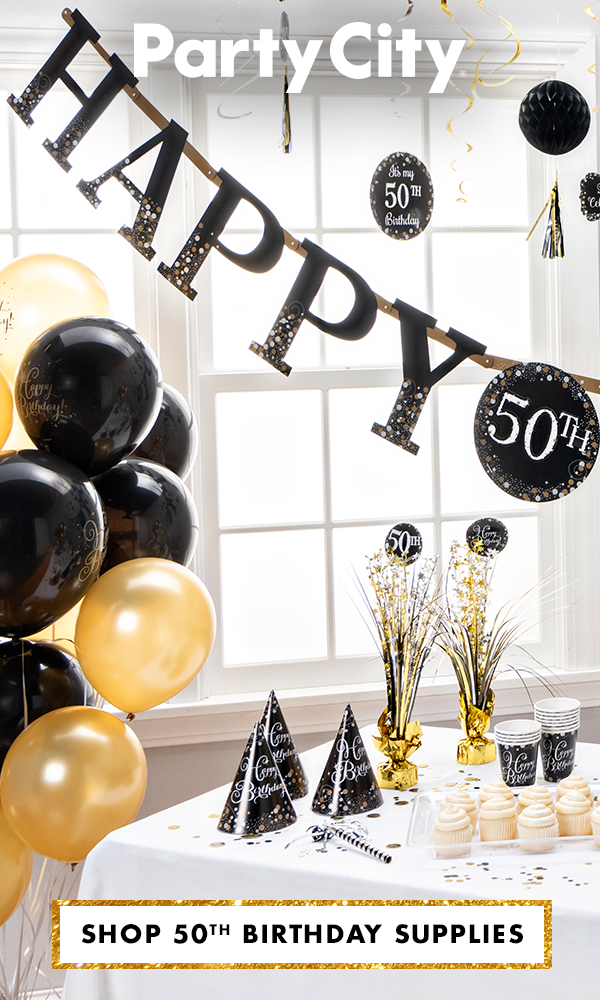 Shop Party City For 50th Birthday Supplies