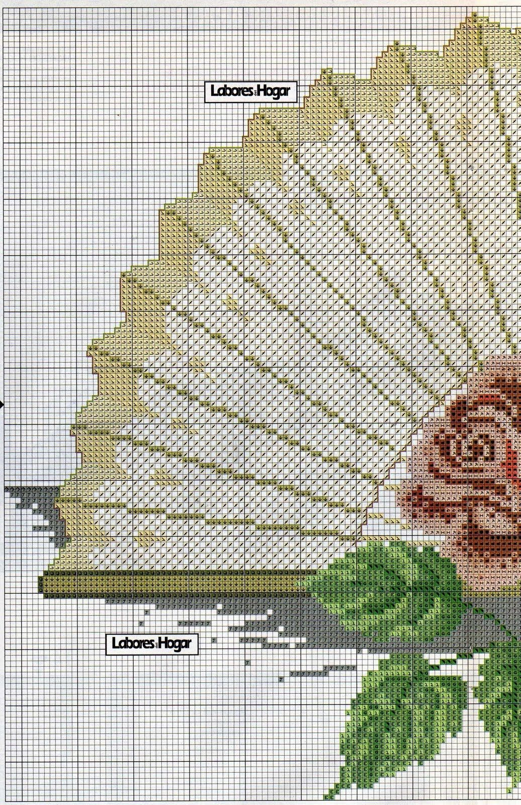 Resultado de imagen para abanicos punto cruz patrones | PAISAJES .+ ...