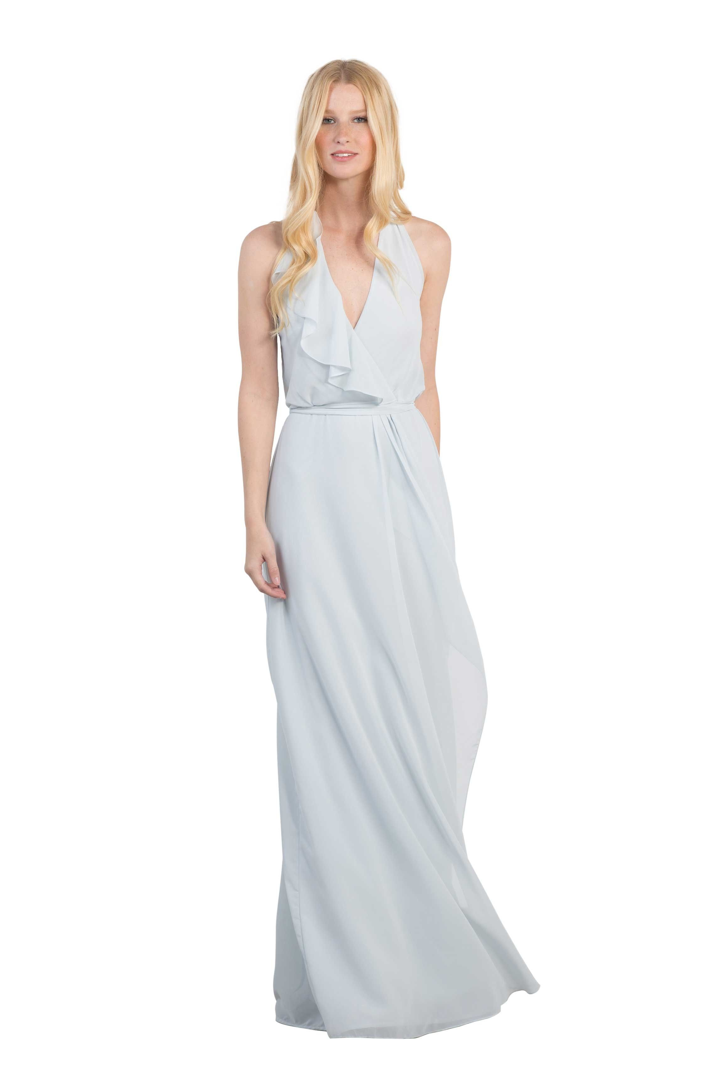 Nouvelle amsale erica to be chiffon and designer bridesmaid dresses a floor length halter chiffon bridesmaid dress in two colors affordable designer bridesmaid ombrellifo Gallery