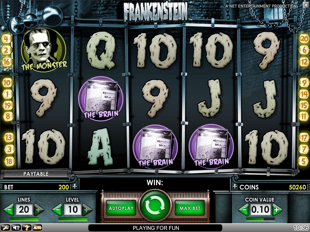 Frankenstein slot game review online casino reviews pinterest in collaboration with universal studios netent has created the frankenstein slot game this is one of their many slot machines with movie themes izmirmasajfo