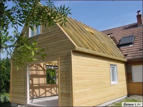 Extension bois maison Beauvais (60) transformer votre maison - agrandissement maison bois prix m