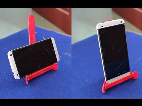 3254ae4336 How to make a Smartphone Stand using popsicle sticks - If it's a gift,  Bling It Up or personalize it! - YouTube
