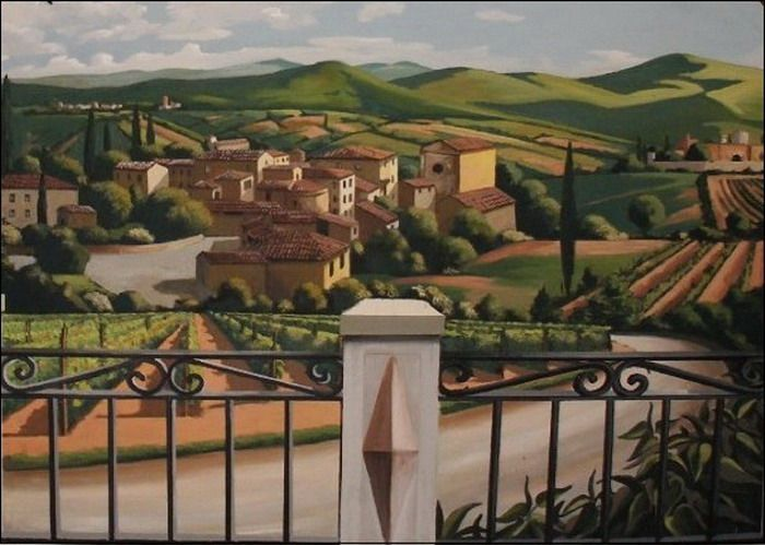 Tuscan Outdoor Wall Mural Decor How To Ly