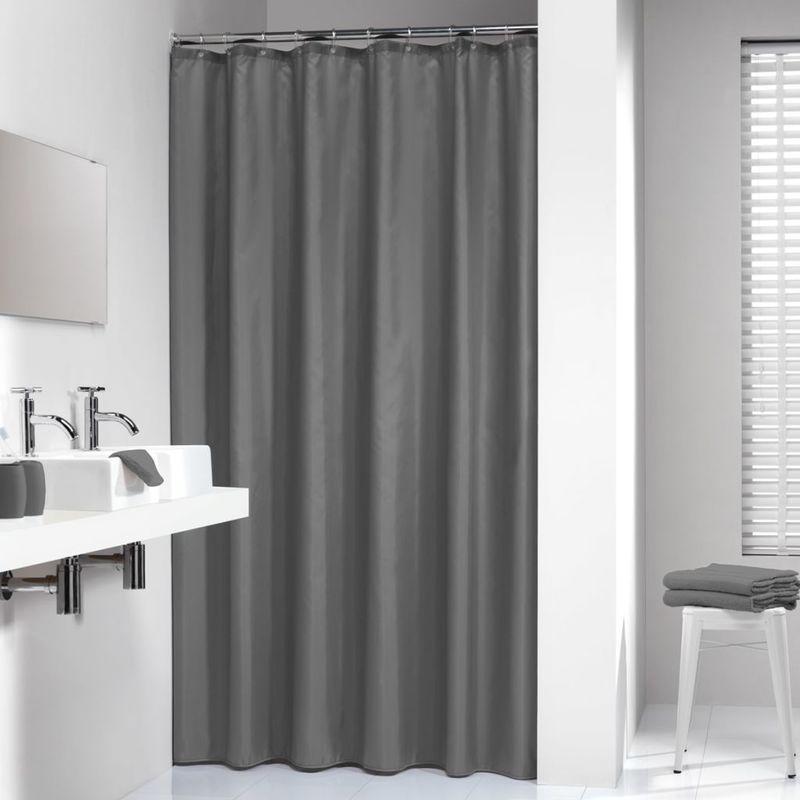 Rideau De Douche Modern Shower Curtains Silver Shower Curtain