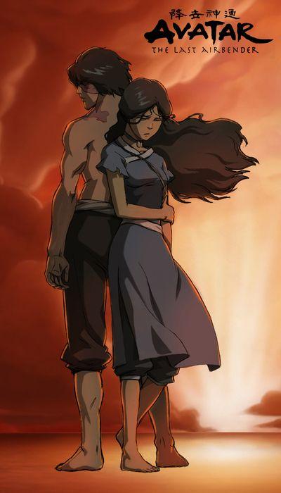 Zuko And Katara Avatar The Last Airbender Avatar Aang Zuko And Katara