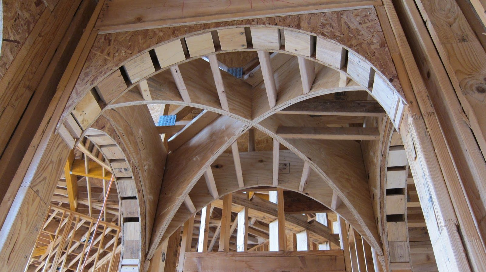 Jeff Seal Homes Of Distinction Vaulted Ceiling Framing