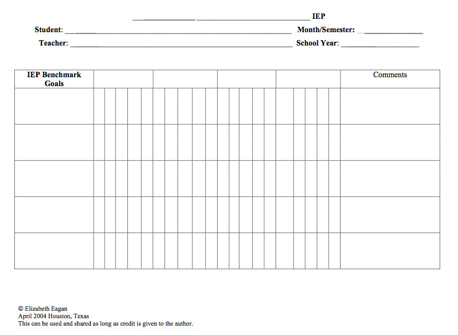 Data Sheets for Tracking IEP Goals | Data sheets, Data collection ...