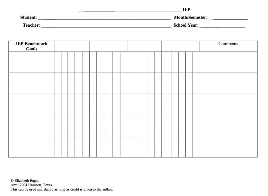 Data Sheets for Tracking IEP Goals | Pinterest | Data sheets, Data ...