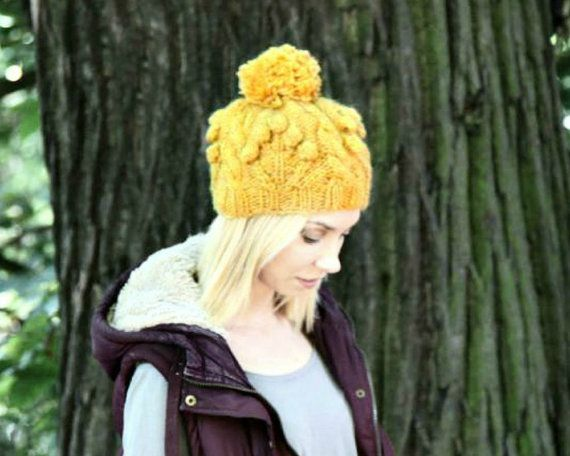 Cable Knit Hat - Alafoss Lopi - Icelandic Wool Hat - Hand Knitted ...