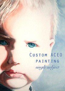 Custom ACEO watercolour painting, single subject.