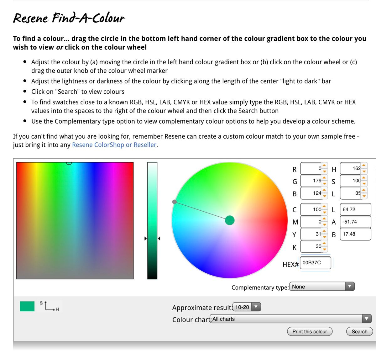 Colour Conversion Tool In
