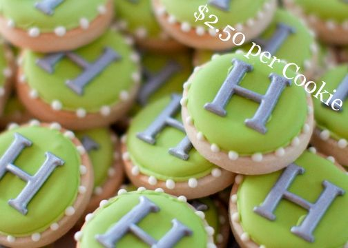 Decorated-Monogram-Tea-Sugar-Cookies-Green-Gray-for-Sale-Flower-and-Flour.jpg 504×360 pixels