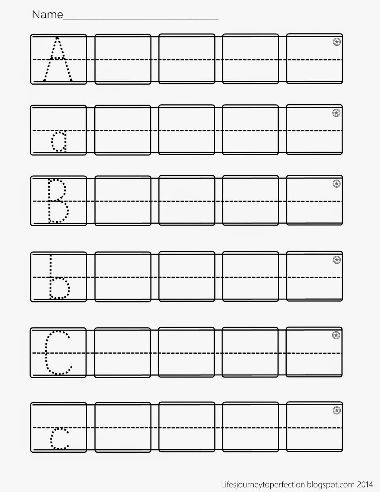 Worksheets Abc Handwriting Worksheets preschool practice abc writing worksheet printables lifes journey to perfection printables