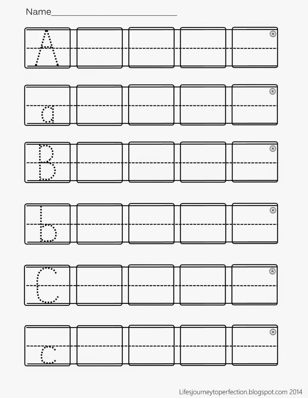 medium resolution of Preschool Practice ABC Writing Worksheet Printables   Abc worksheets