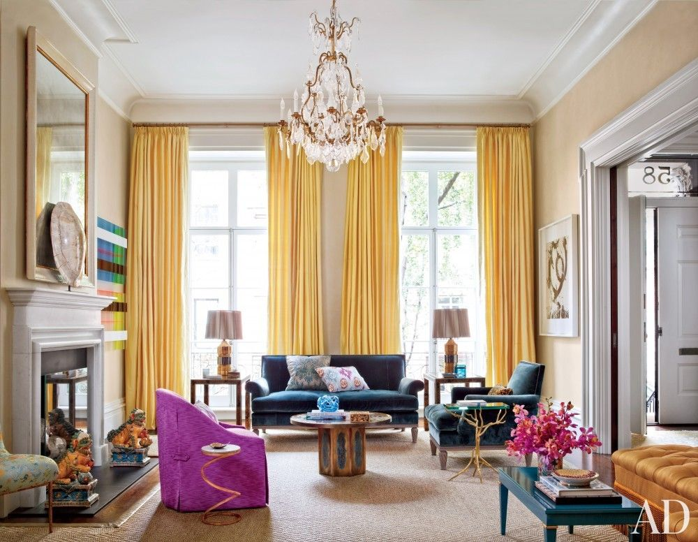 Get The Look: Colorful NYC Living Room. Sophisticated Living RoomsModern ...