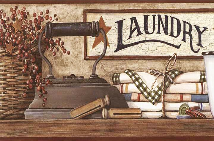 Country Laundry Room Wallpaper Border HK4633BD httpdecorate247