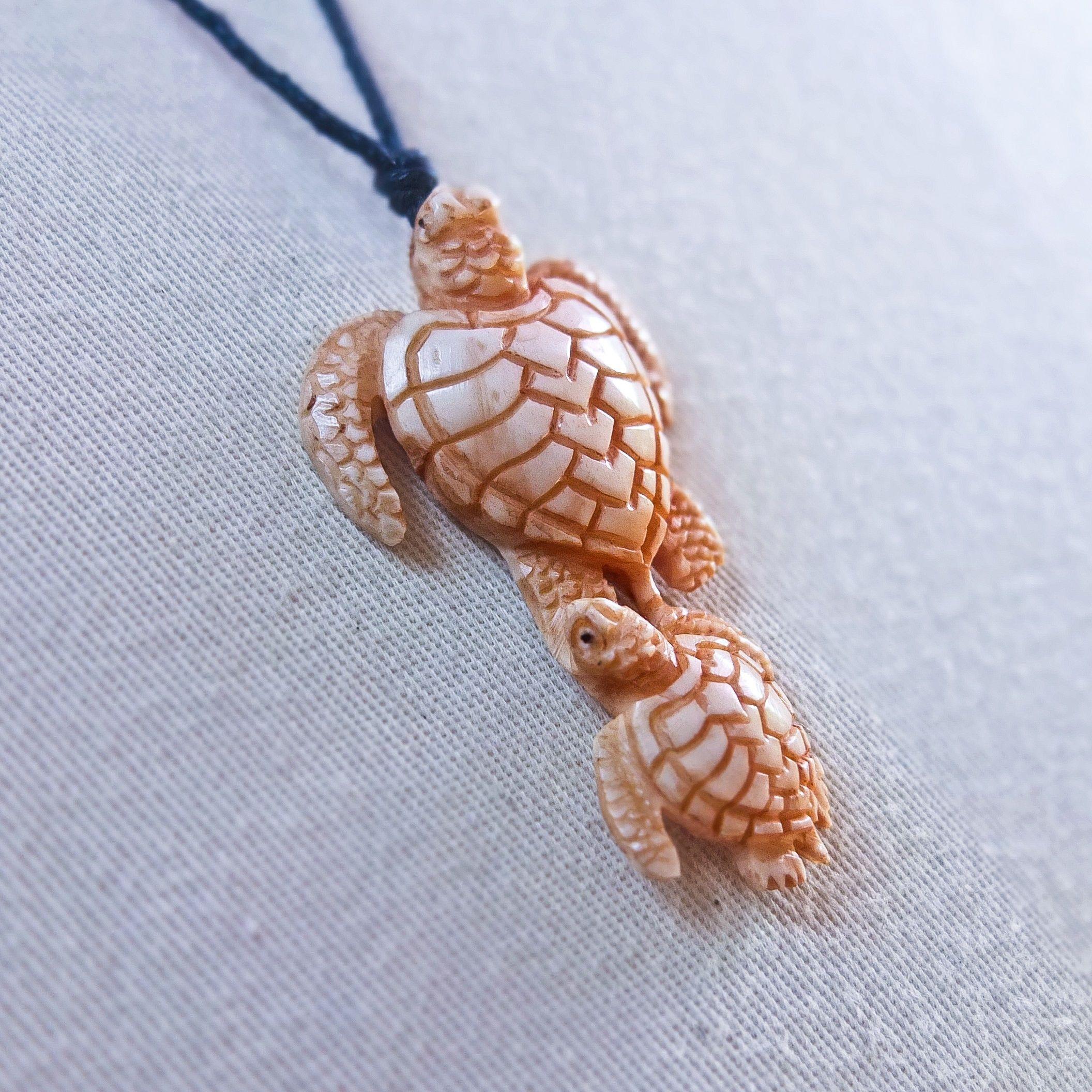 Carved Turtle Necklace Animal Pendant Buffalo Bone Jewelry Taxidermy Steer Bull Turtle Jewelry Antler Jewelry Animal Jewelry