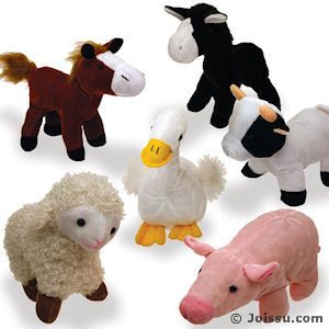 Plush Farm Animals With Button Eyes And Super Soft Fur You Will