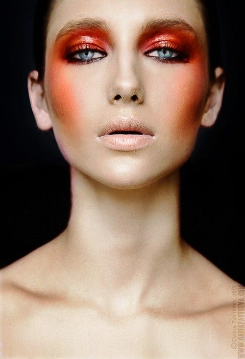 Make Up Is An Art Fire Makeup High Fashion Makeup Catwalk Makeup