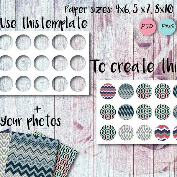 1 Inch Circle Page Template Png Bottle Cap Template Psd Etsy Bottle Cap Jewelry Template Paper Template