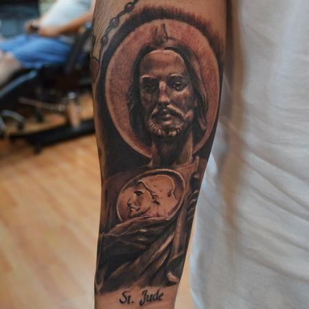 saint jude tattoo   Tatts♧   Tattoos, Forearm tattoos, Religious ...