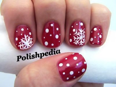 Christmas Snow Flakes Nail Art Tutorial | AmazingNailArt.org