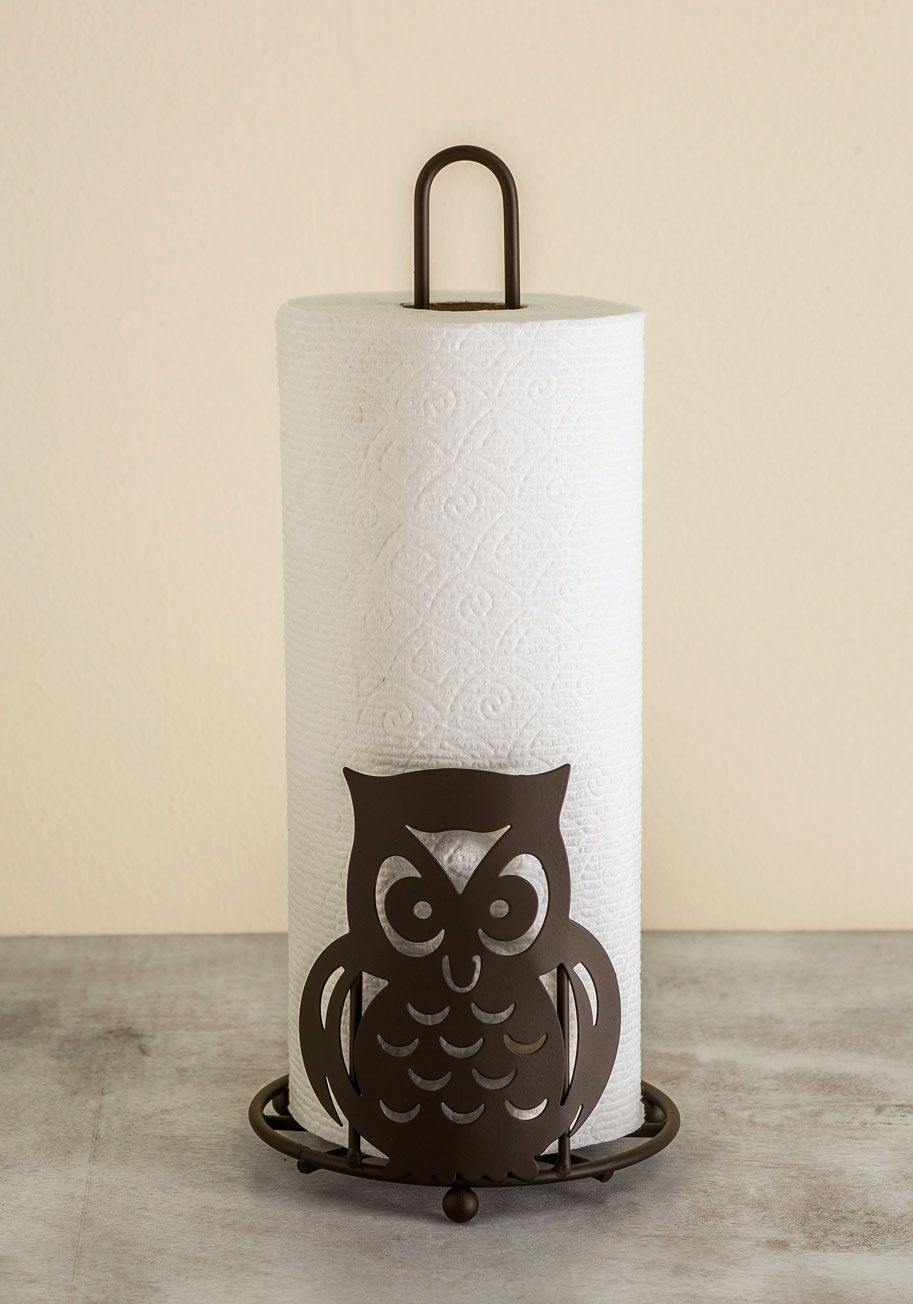 Kitchen Towel Holder Owl Accounted For Measuring Cup Set Woodland Creatures Vintage