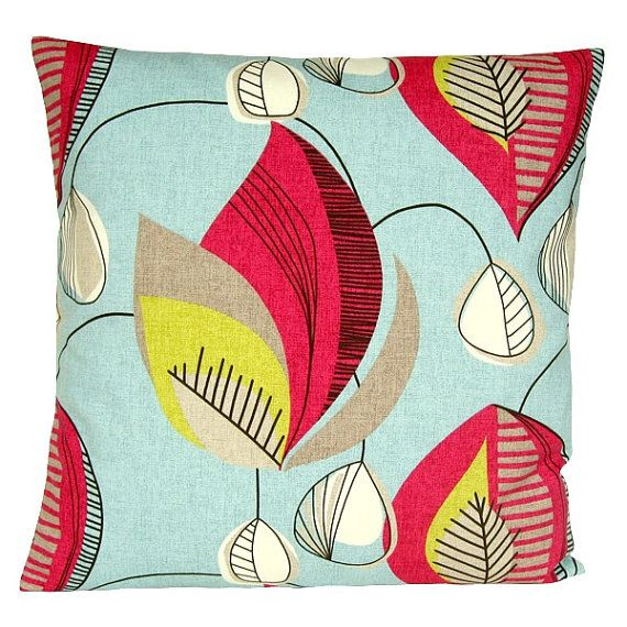 10x10 inch Red and Blue pillow cover