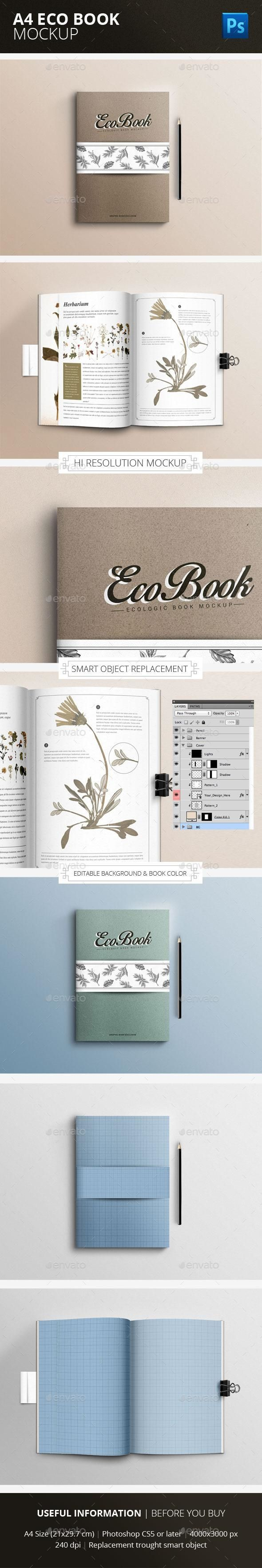 eco book mock up psd graphicriver mockups template bookmockup templatedesign graphicdesign graphic designcollection designresource also rh pinterest