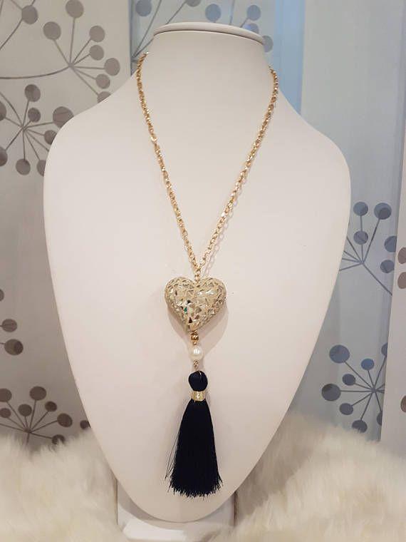 f6312bccdbf8 Heart Tassel Necklace ◅ ▻ Detalles Collar Largo