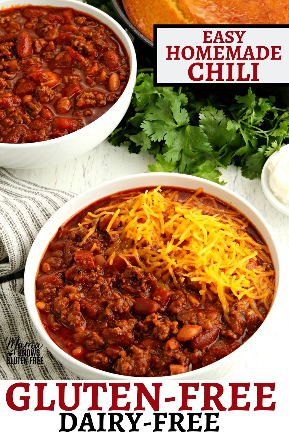 The Best Gluten Free Chili This Easy Chili Recipe Is Made With Ground Beef Beans And A Simple In 2020 Dairy Free Recipes Dinner Chili Recipe Easy Gluten Free Chili