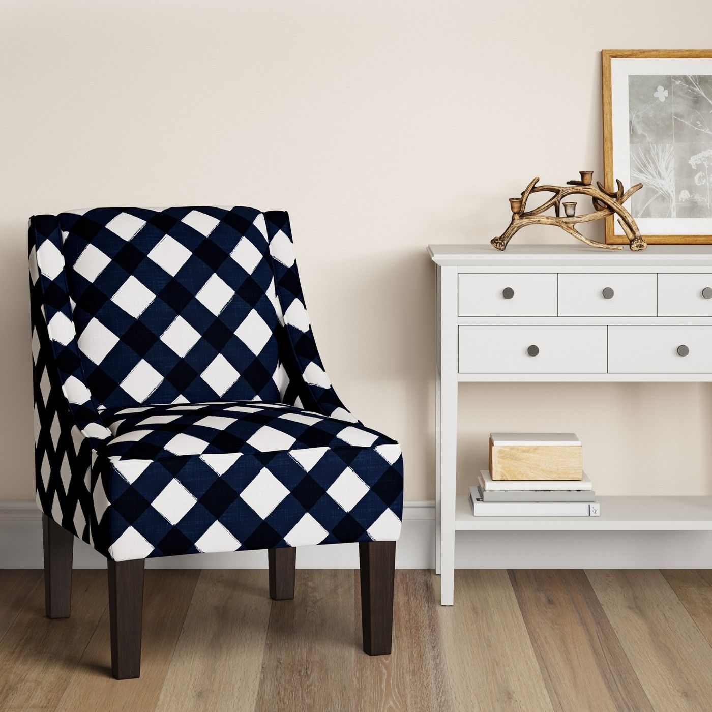 Hudson Swoop Arm Chair Buffalo Navy Threshold™ image