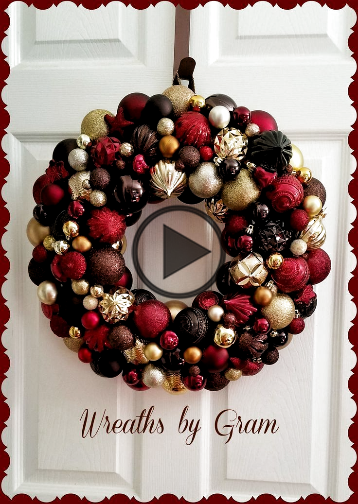 Ornament wreath; brown decor; Black Friday; Christmas ball wreath; winter wreath; holiday decor;