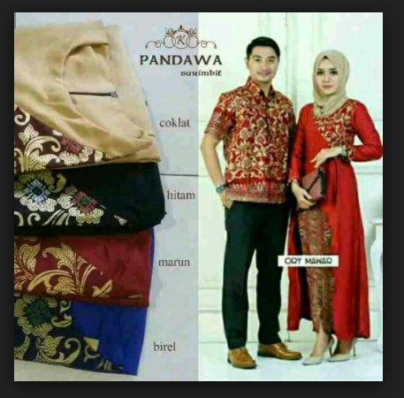 Setelan Model Baju Batik Couple Kombinasi Sarimbit Pandawa Model