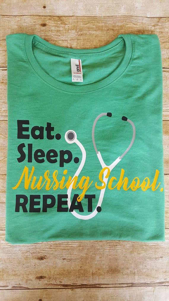 a8400e5c199ad Eat sleep nursing school nursing school shirt nurse shirt #nurseshirts